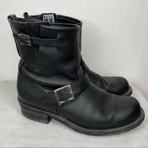 WOMENS FRYE Engineer 8R black boots size 10